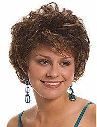 suficiente cor inventário curtas sintéticas perucas onda cabelo real de alta qualidade
