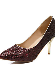 Women's Shoes Stiletto Heel Heels / Pointed Toe Heels Wedding / Dress Purple / Silver / Gold / Burgundy