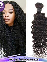 1pcs / lot malaisie cheveux vierges onde de boucle profonde 100% cheveux humains poils non transformés tisse