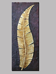 Large Hand-Painted Abstract Landscape Gold Leaf Modern Oil Painting On Canvas Ready to Hang