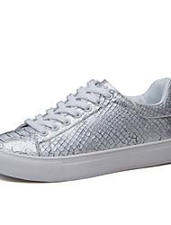 Scarpe Donna-Sneakers alla moda-Tempo libero / Formale / Casual-Comoda-Piatto-Finta pelle-Nero / Bianco