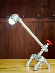 Retro Metal desk lamp Light Novely Style Antique Iron Industrial Water Pipe Tube Desk Lamp Light Led Lamp -FJ-DT1S-004A0