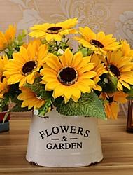 Seda Girassóis Flores artificiais