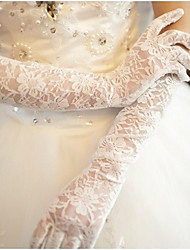 Elbow Length Fingertips Glove Lace Bridal Gloves