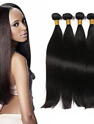 "Unprocessed Hair Products Brazilian Virgin Hair Straight 4Pcs Brazilian Straight Hair  8""-30"" Human Hair Bundles"