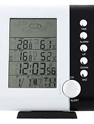 433mhz rf station météo réveil thermomètre hygromètre numérique sans fil de mesure de l'humidité de la température