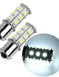 2 * 1156 BA15S cauda do carro lâmpada de backup freio de estacionamento parada 5050SMD branco 18 levou luz 12v