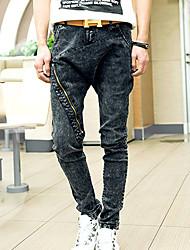 Men Autumn Fashion Classic Jeans Casual Men Jeans Zipper sport Slim Pants PlusBANT9