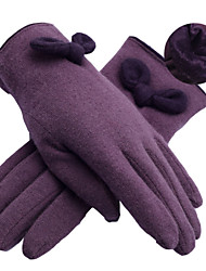 LYZA Women's Warm Solid Color Thicken Full Fingered Gloves