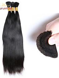"""3pcs / lot atacado 100g ordem de maioria / set 3set / pack 8 """"- 30"""" 1b # natural preto virgem cabelo brasileiro granel cabelos lisos"""
