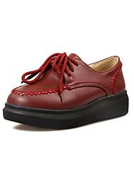 Chaussures Femme - Habillé / Décontracté - Noir / Rouge / Gris / Beige - Talon Compensé - Talons / A Plateau / Bout Arrondi - Talons -