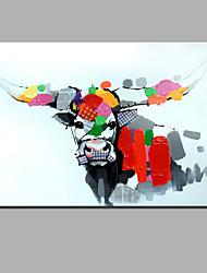 одного современного абстрактного чистого ничья рука готовы повесить декоративную коровье масло живопись маслом