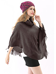 Casual Orlon Capes Mouwloos Omslagdoeken / Mantels & Poncho's