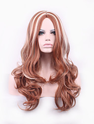 Chocolate Coffee White Blended Color Curly Cosplay Wig