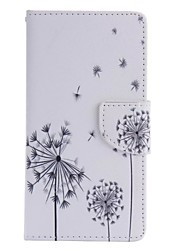 Black Dandelion Painted PU Phone Case for Huawei P8 Lite/P8
