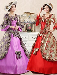 Steampunk®Top Sale Printing Princess Dress Victorian Party Dress Long Theme Movie Prom Dresses
