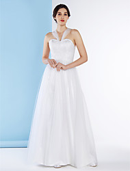 Lanting Bride® A-line Wedding Dress Ankle-length Straps Lace / Tulle with Lace
