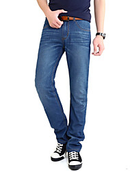 AOLONGQISHI® Men's Pure Long Sleeve Pant , Cotton / Denim Casual 620-1