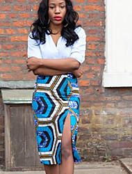 Women's Print Bodycon Split Skirts