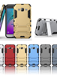 2 em 1 armadura dura caso de volta à prova de choque com suporte para Samsung Galaxy J3 J5 J7 2016