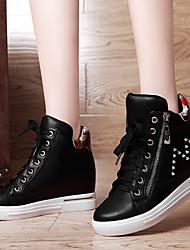 Scarpe Donna - Sneakers alla moda - Ufficio e lavoro / Formale / Casual - Comoda - Piatto - Sintetico - Nero / Argento