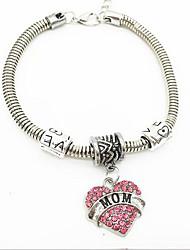 Diamond Letters MoM Alloy Bracelet Chain & Link Bracelets Daily / Casual 1pc