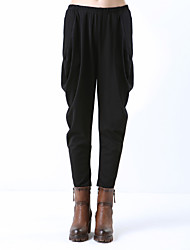 Women's Solid Black Harem Pants , Casual / Party / Work