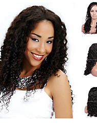 Premierwigs 8''-26'' Soft Fashion Curly Brazilian Virgin Glueless Full Lace Human Hair Wigs Glueless Lace Front Wigs 8A