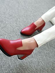 Women's Shoes Chunky Heel Heels Heels Casual Black / Blue / Red