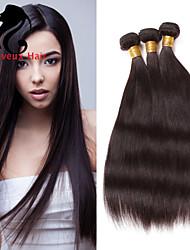 4bundles cabelo humano cabelo reto 8-26inch cabelo indiano virgem tece cor natural