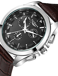 Men's Fashion Business Genuine Leather Quartz Wrist Watches Cool Watch Unique Watch