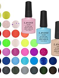 Choose 1 Piece LANDLE Soak Off UV Nail Gel Polish 79 Color Gel LED Manicure Gel