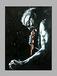 Single Modern Abstract Pure Hand Draw Ready To Hang  Decorative  Sing A song Of A Man Oil Painting