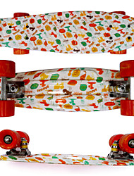 Plastic Skateboard (22 Inch) Cruiser Board Mix Color