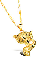 Fox Ms Vacuum Plating 18 K Gold Don't Rub Necklace