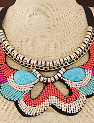 European Style Trend Wild Bohemian Ethnic Beaded Collar Fashion Necklace