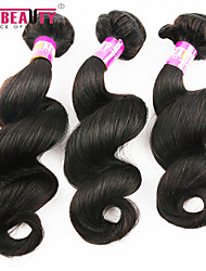 "3 Pcs /Lot 12""-30""7A Peruvian Virgin Hair Loose Wave Hair Extensions 100% Unprocessed Remy Human Hair Weaves"