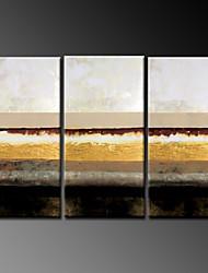 Ручная роспись Абстрактные пейзажиModern 3 панели Холст Hang-роспись маслом For Украшение дома