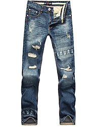 Hot Sale men Jeans Famous Brand sport casual printed Jeans Cotton Plus Size BANT14