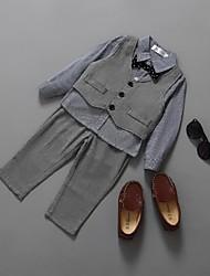 Plata Algodón Vestido de Padrino - 4 Piezas Incluye