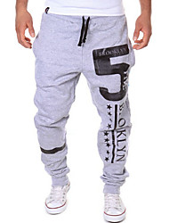Men's Sweatpants , Sport Print Rayon