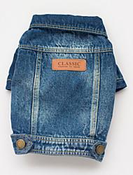 Cani Cappottini / Giacche di jeans-Primavera/Autunno-Cowboy Jeans-Blu- diCotone