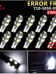 10x canbus coin t10 blanc 192 168 194 W5W 9 5050 SMD LED Lampe erreur ampoule 12v gratuitement