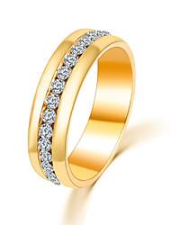 Женский Массивные кольца Простой стиль Мода Pоскошные ювелирные изделия бижутерия Хрусталь Искусственный бриллиант Сплав Бижутерия