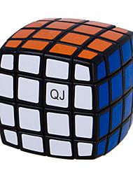 Qiji® Glatte Geschwindigkeits-Würfel 4*4*4 Geschwindigkeit Magische Würfel Schwarz Plastik