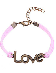 Fashion Jewelry Alloy Love Pattern Charm Bracelet