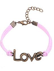 Fashion Jewelry Alloy Love Pattern Charm Bracelet
