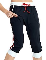 Yoga Pants Underdelar Hög andningsförmåga  (>15,001g) / Stretch / wicking / Lättviktsmaterial Naturlig Hög Elasisitet Fotbollströjor Svart