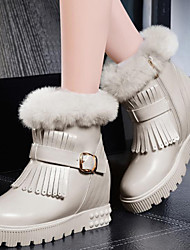 Women's Shoes Synthetic Flat Heel Snow Boots / Fashion Boots Boots Party & Evening / Dress / Casual Black / White