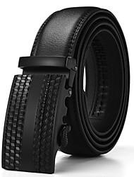 Men's Genuine Leather Belt Business Automatic Buckle Belts Split Cow Leather Belts